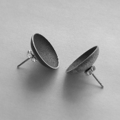 'Two Vessels' Sterling Silver Earrings