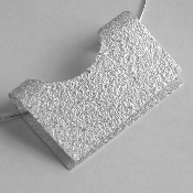 Large 'Riza' Fine Silver Pendant Necklace