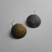 Two Tone Sterling Silver and 18K Yellow Gold Earrings