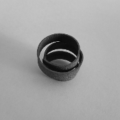Blackened Sterling Silver 'Tagliatelle' Ring
