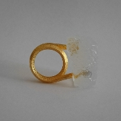 18K Yellow Gold and Bio Resin Ring