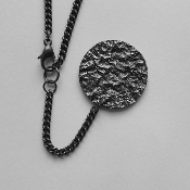 Blackened Sterling Silver Pendant Necklace